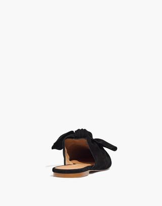 The Remi Bow Mule in true black image 3