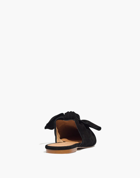 The Remi Bow Mule in true black image 3