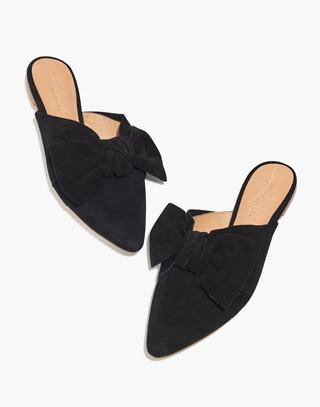 The Remi Bow Mule in true black image 1