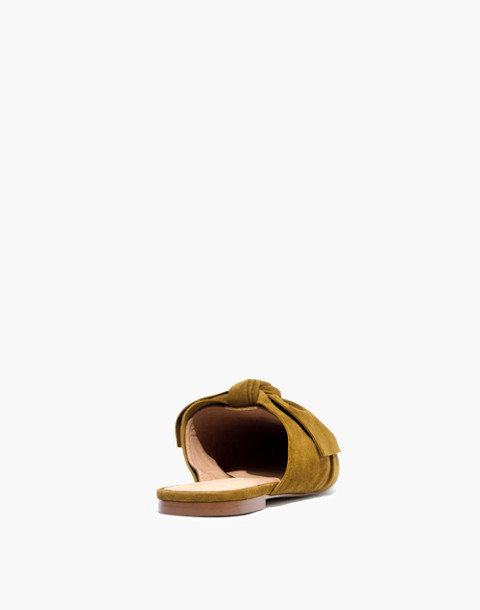 The Remi Bow Mule in spiced olive image 4