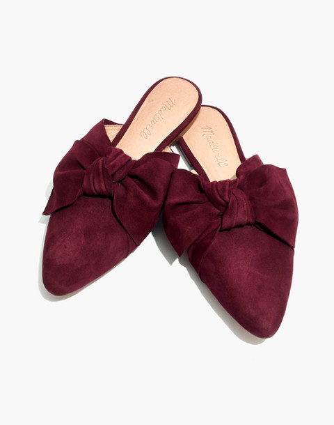 The Remi Bow Mule in pinot noir image 1