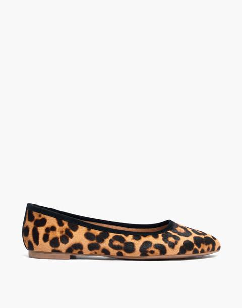 The Reid Ballet Flat in Leopard Calf Hair in truffle multi image 3
