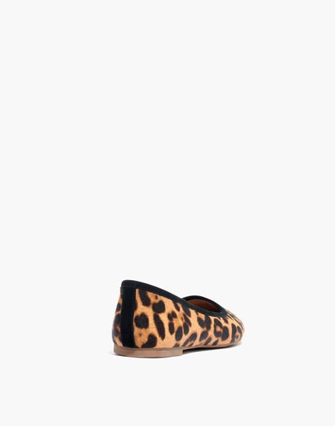 The Reid Ballet Flat in Leopard Calf Hair in truffle multi image 4