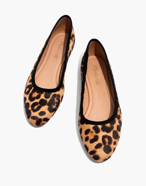 The Reid Ballet Flat in Leopard Calf Hair