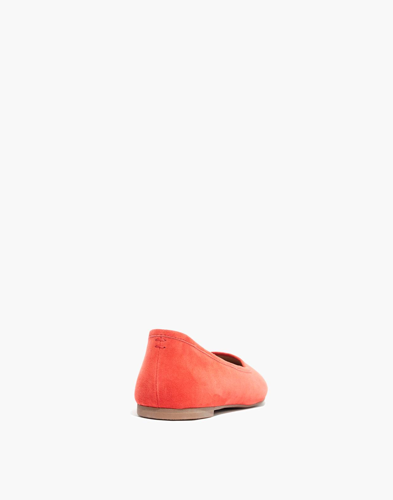 The Reid Ballet Flat in Suede in coastal orange image 3