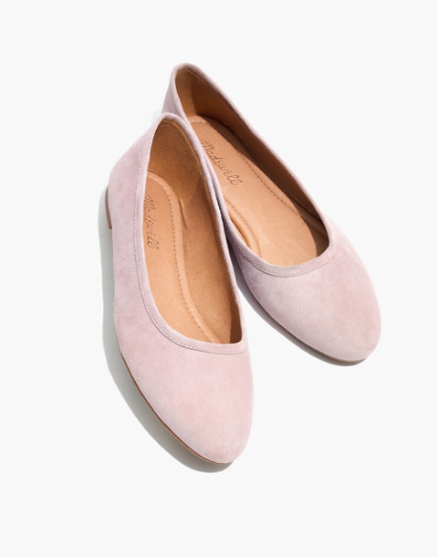 The Reid Ballet Flat in Suede in antique purple image 1