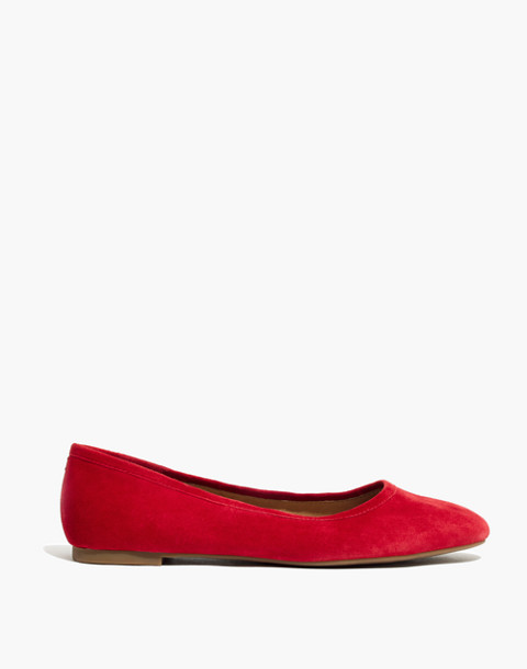 The Reid Ballet Flat in Suede in cranberry image 3