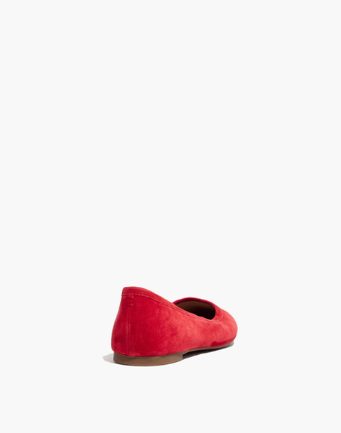 The Reid Ballet Flat in Suede in cranberry image 4