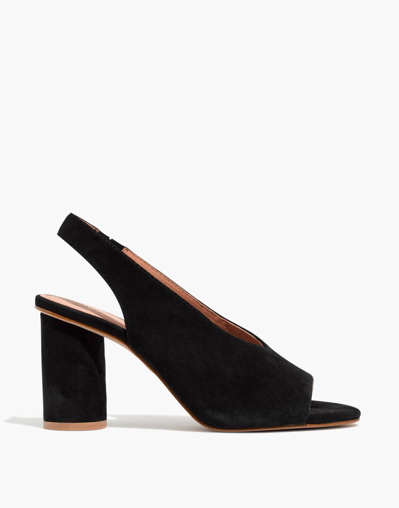 The Alana Slingback Sandal in true black image 3