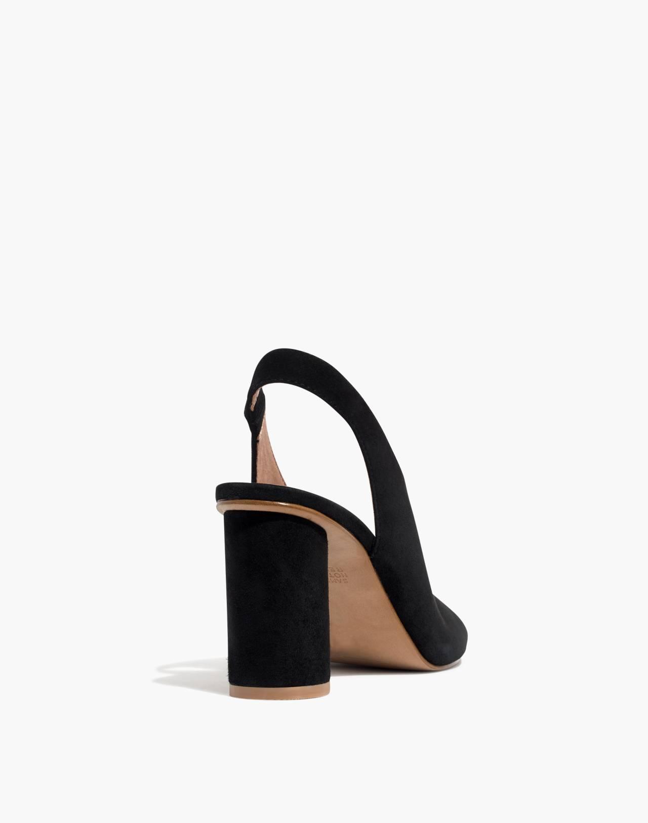 The Alana Slingback Sandal in true black image 4