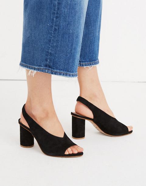 The Alana Slingback Sandal in true black image 2