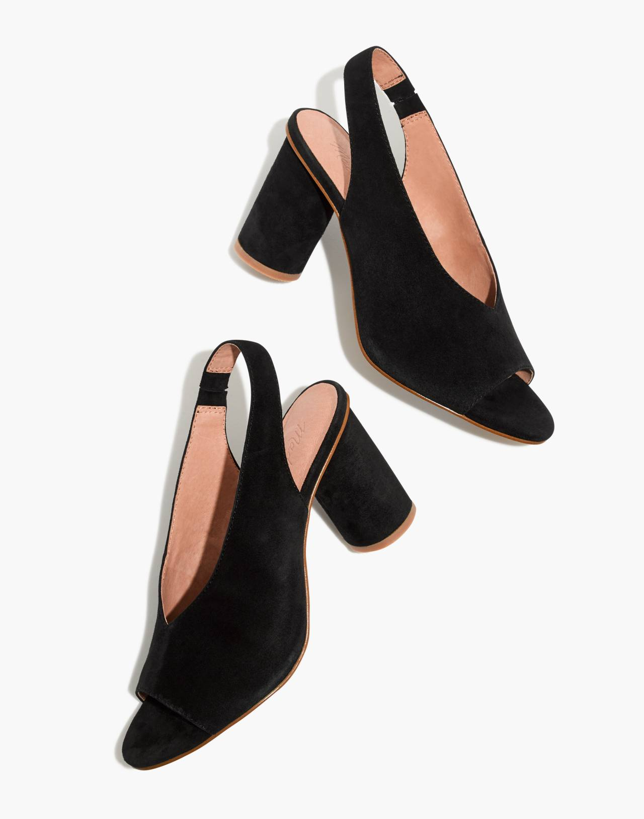 The Alana Slingback Sandal in true black image 1