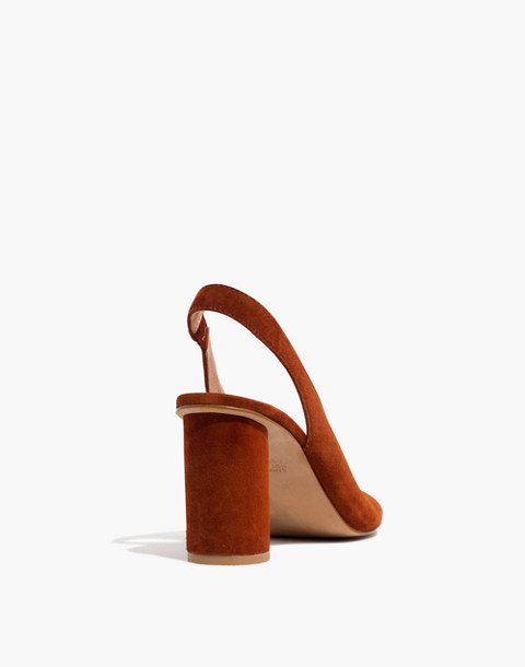 The Alana Slingback Sandal in maple syrup image 3