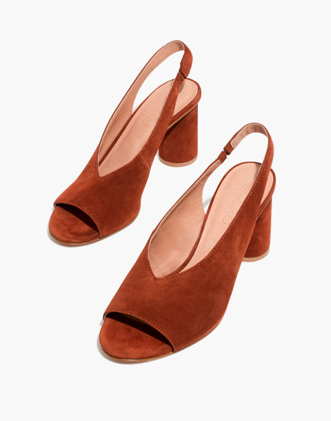 The Alana Slingback Sandal in maple syrup image 1