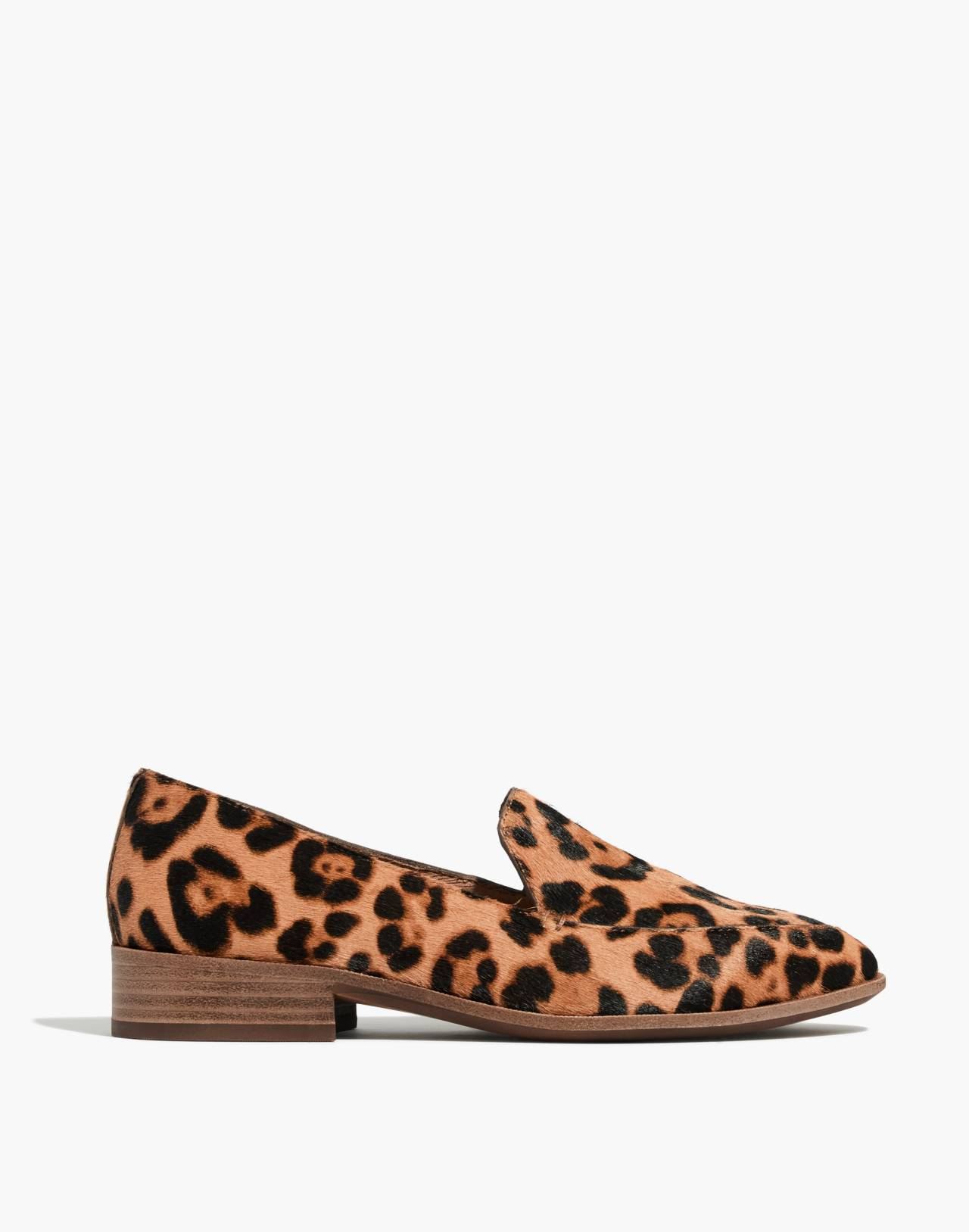 The Frances Loafer in Leopard Calf Hair in truffle multi image 3
