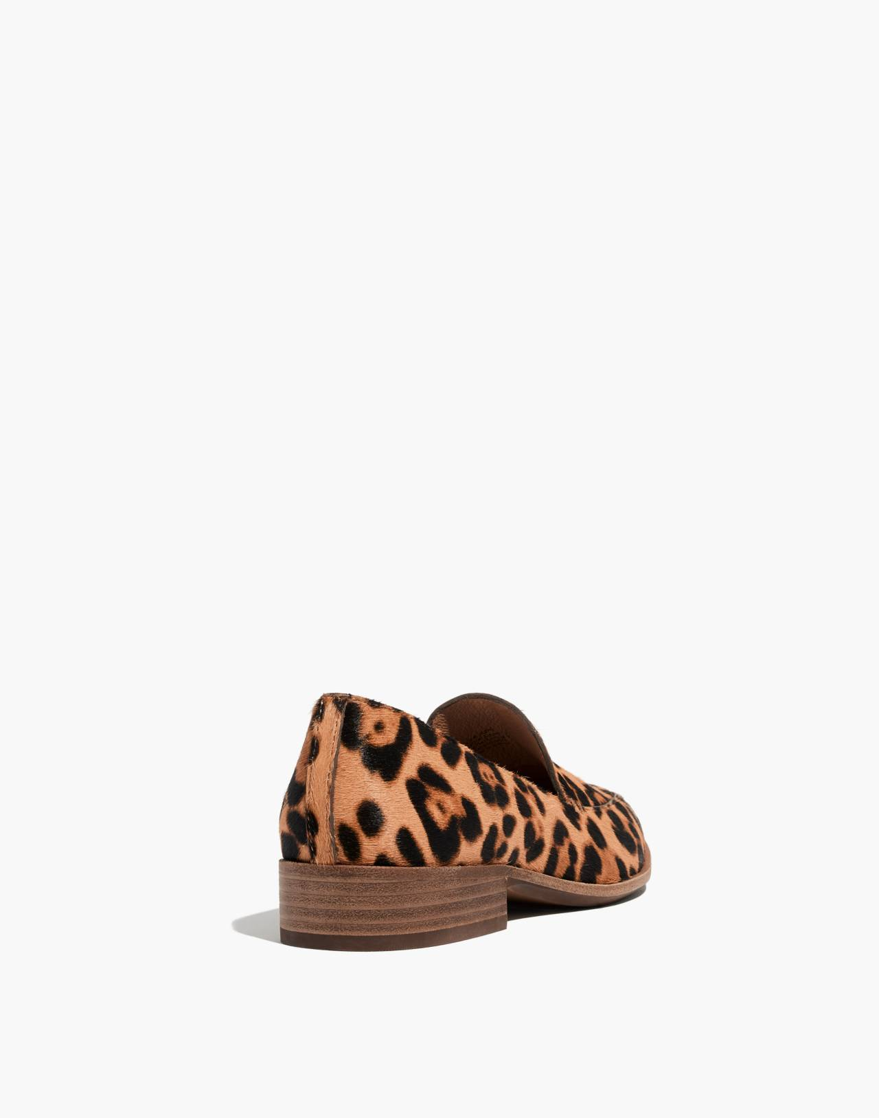 The Frances Loafer in Leopard Calf Hair in truffle multi image 4