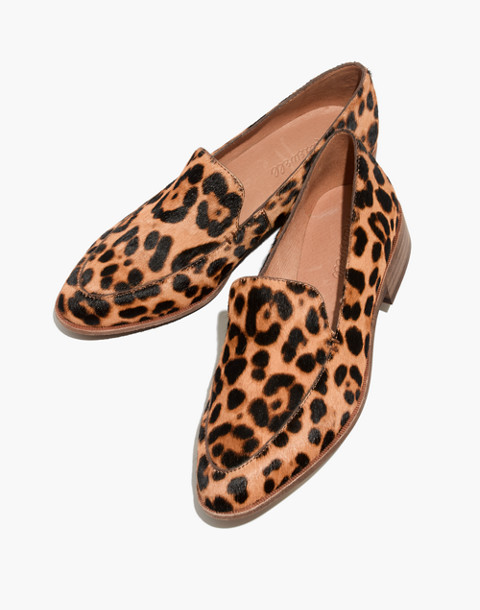 The Frances Loafer in Leopard Calf Hair in truffle multi image 1