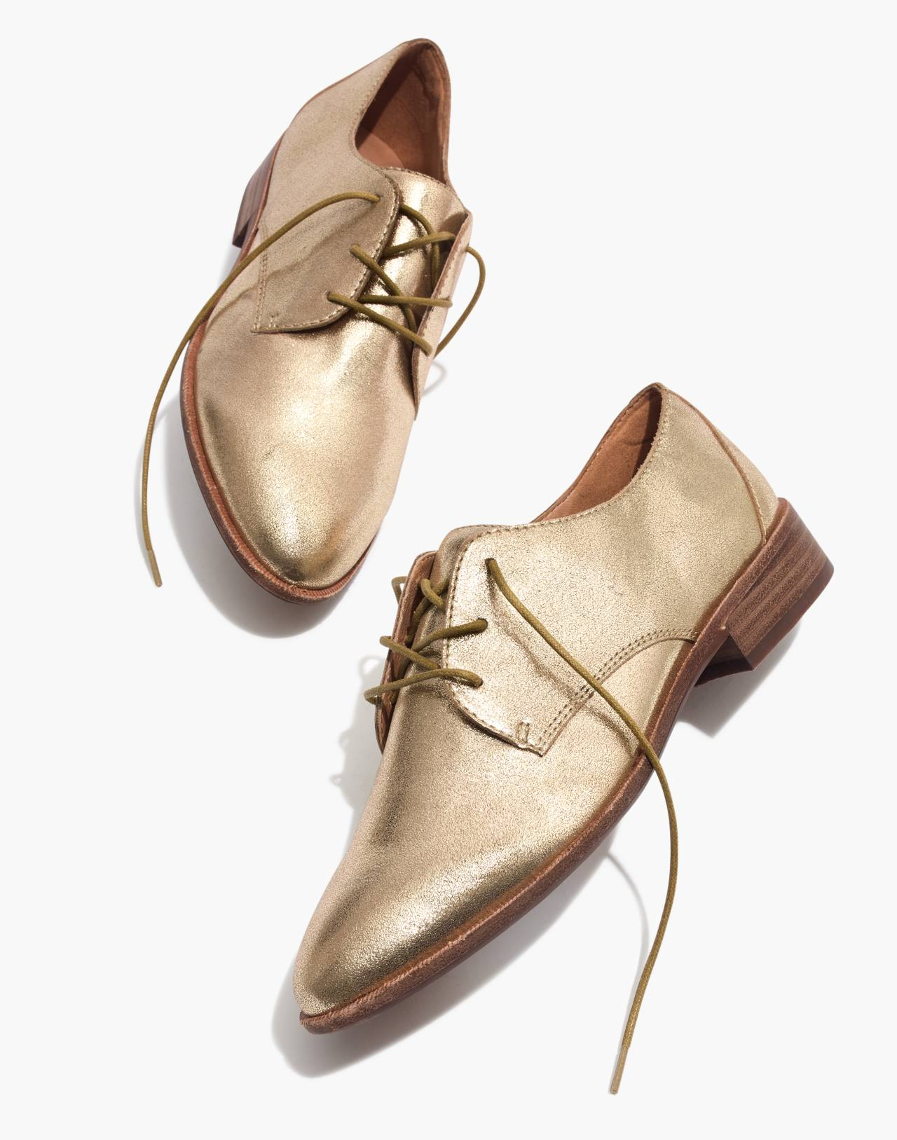 The Frances Oxford in Metallic in olive bronze image 1