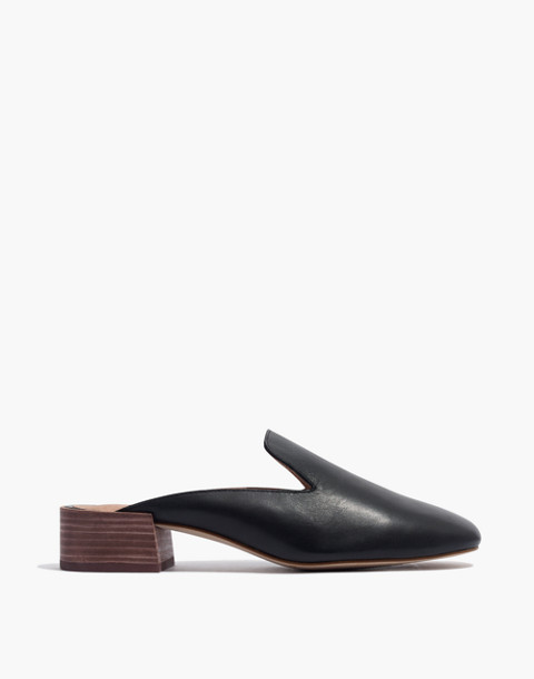 The Willa Loafer Mule in true black image 3
