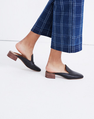 The Willa Loafer Mule in true black image 2