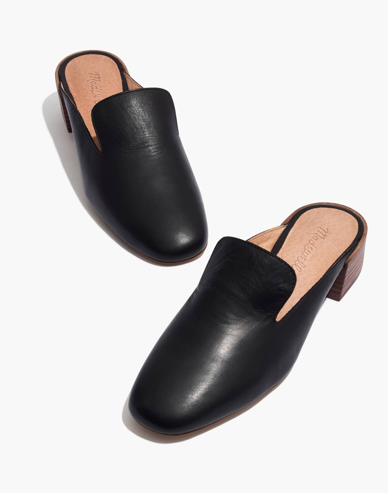 The Willa Loafer Mule in true black image 1