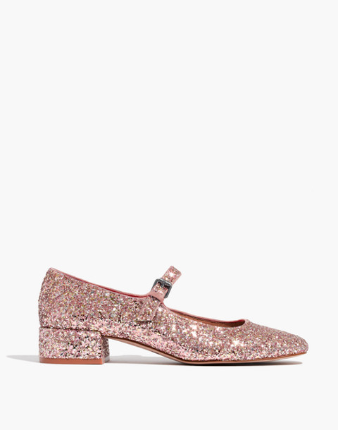 The Delilah Mary Jane in Glitter in silver pink multi image 2