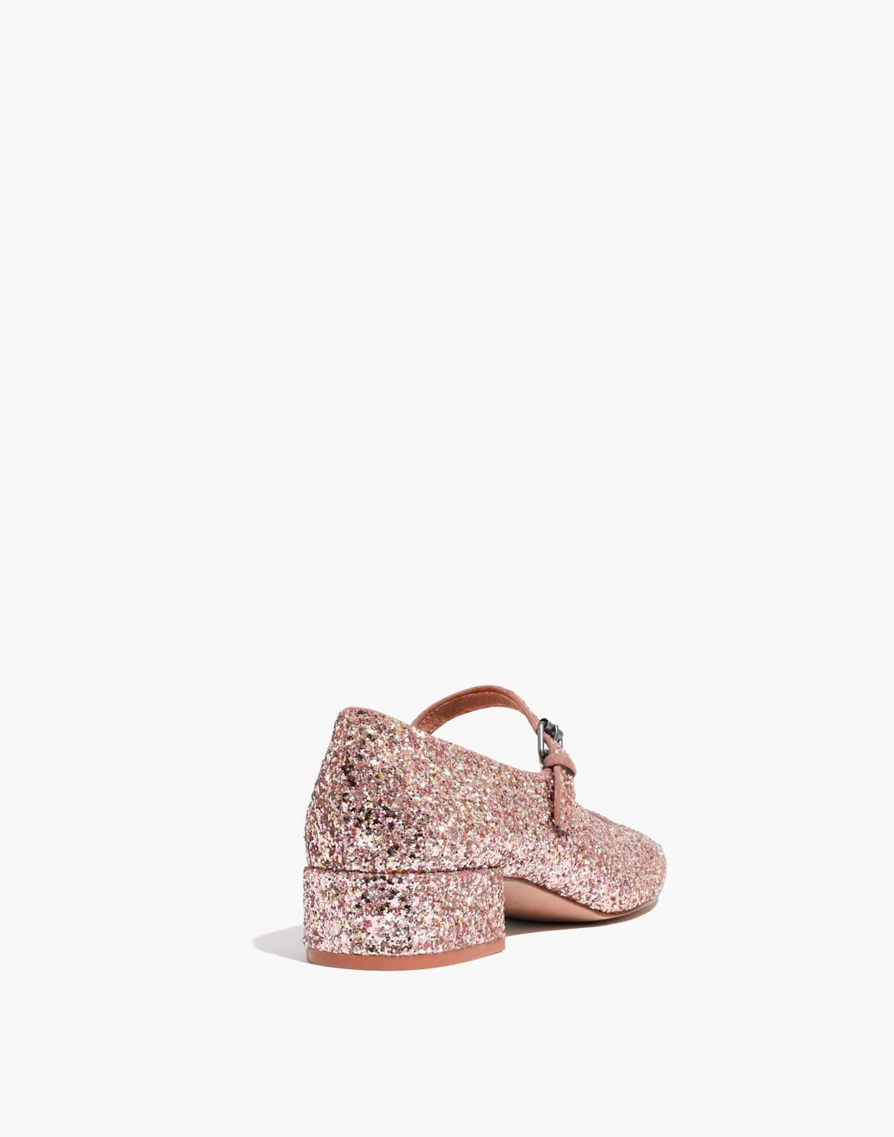 The Delilah Mary Jane in Glitter in silver pink multi image 3