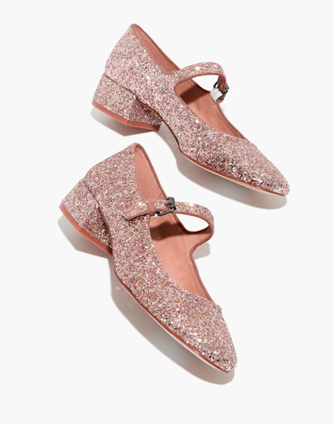 The Delilah Mary Jane in Glitter in silver pink multi image 1
