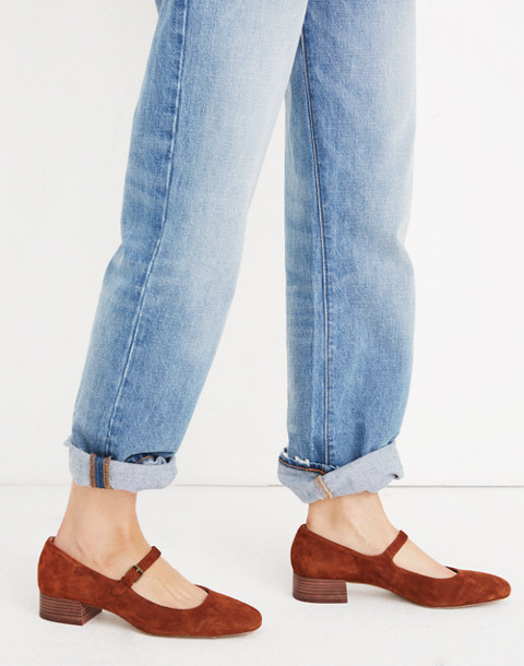 The Delilah Mary Jane in Suede in maple syrup image 2