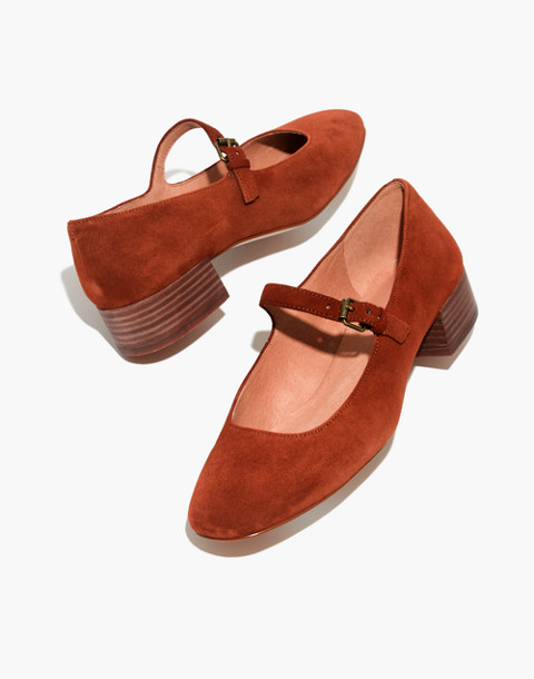 The Delilah Mary Jane in Suede in maple syrup image 1