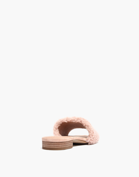 The Jackson Shearling Slide Sandal in sheer pink image 3