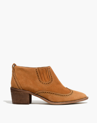 The Grayson Brogue Chelsea Boot in amber brown image 2