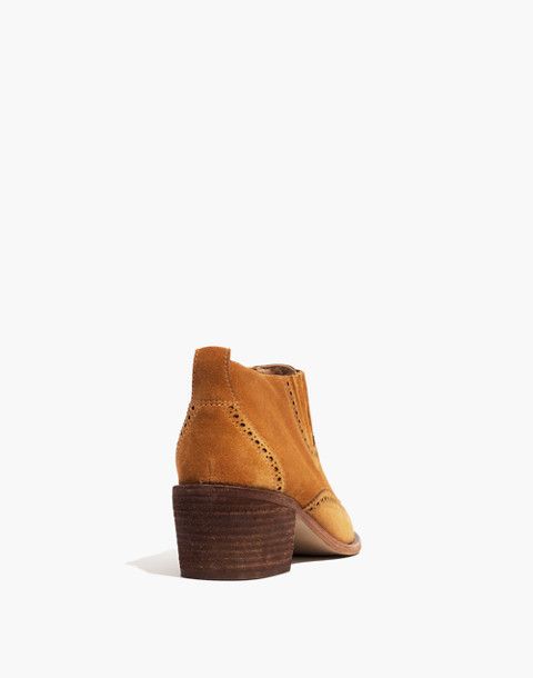 The Grayson Brogue Chelsea Boot in amber brown image 3