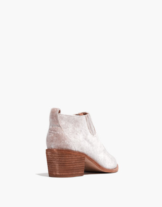 The Grayson Chelsea Boot in Velvet in distressed stone image 3