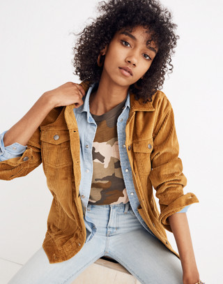The Oversized Jean Jacket: Corduroy Edition in egyptian gold image 2