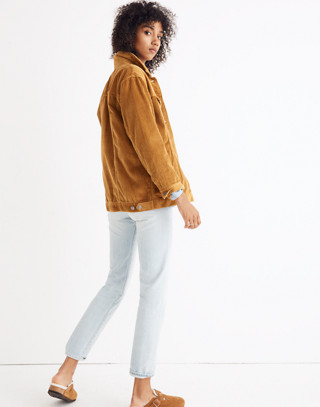 The Oversized Jean Jacket: Corduroy Edition in egyptian gold image 3