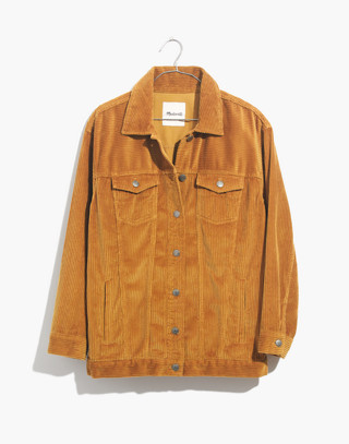 The Oversized Jean Jacket: Corduroy Edition in egyptian gold image 4