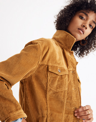 The Oversized Jean Jacket: Corduroy Edition in egyptian gold image 1