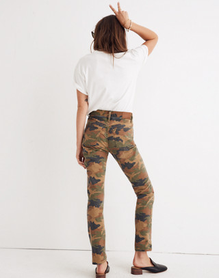 The High-Rise Slim Boyjean in Cottontail Camo in bunny classic desert image 3