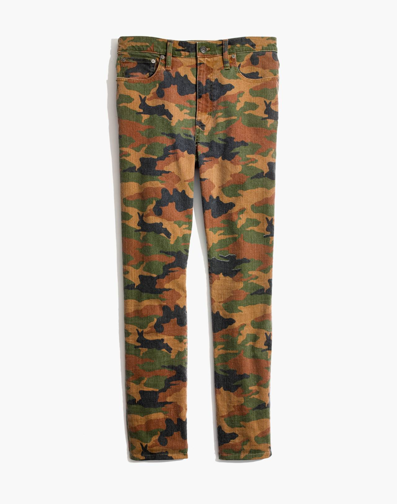 The High-Rise Slim Boyjean in Cottontail Camo in bunny classic desert image 4