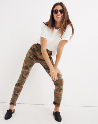 The High-Rise Slim Boyjean in Cottontail Camo in bunny classic desert image 1