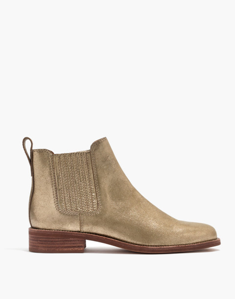 The Ainsley Chelsea Boot in Metallic in olive bronze image 2