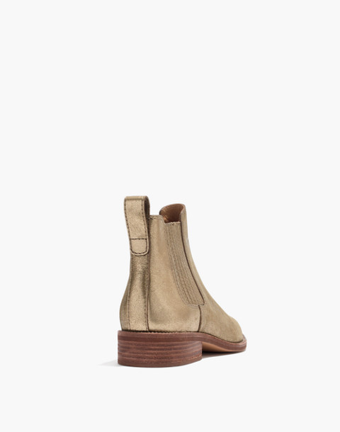 The Ainsley Chelsea Boot in Metallic in olive bronze image 3