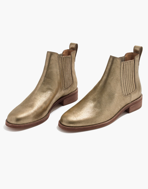 The Ainsley Chelsea Boot in Metallic in olive bronze image 1