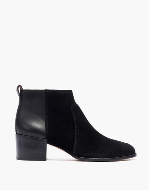 The Asher Boot in Suede and Leather in true black image 3