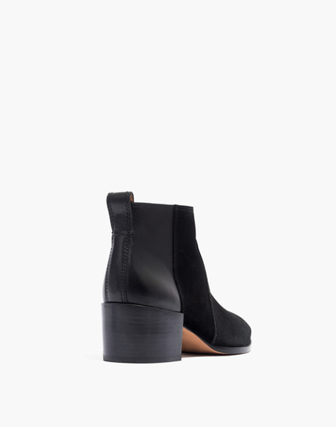The Asher Boot in Suede and Leather in true black image 4