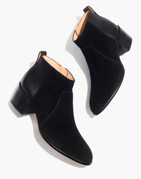 The Asher Boot in Suede and Leather in true black image 1