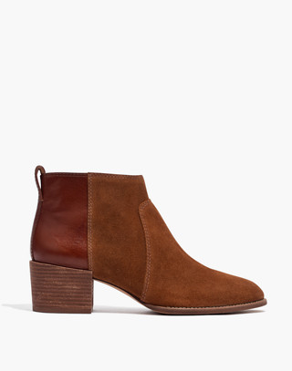 The Asher Boot in Suede and Leather in burnt sienna image 2