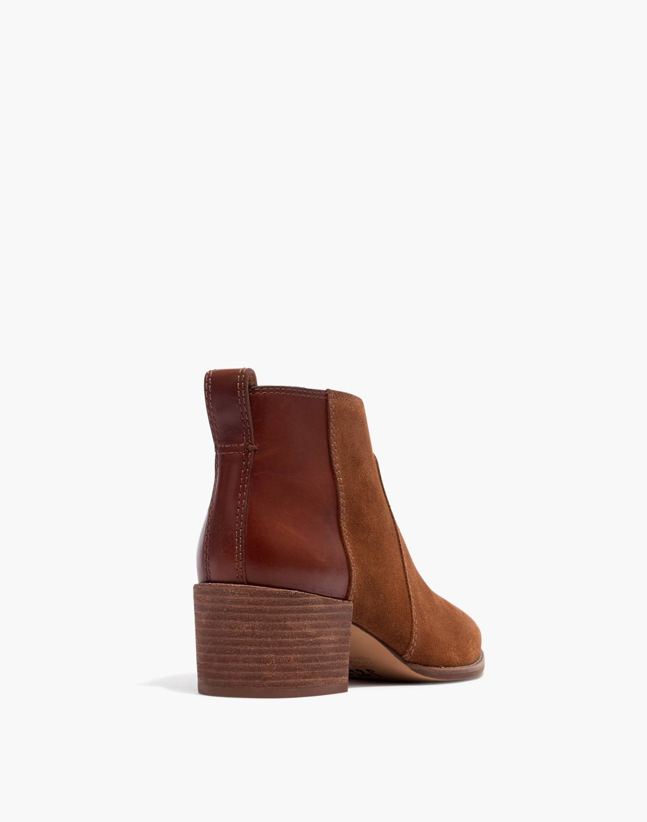 The Asher Boot in Suede and Leather in burnt sienna image 3