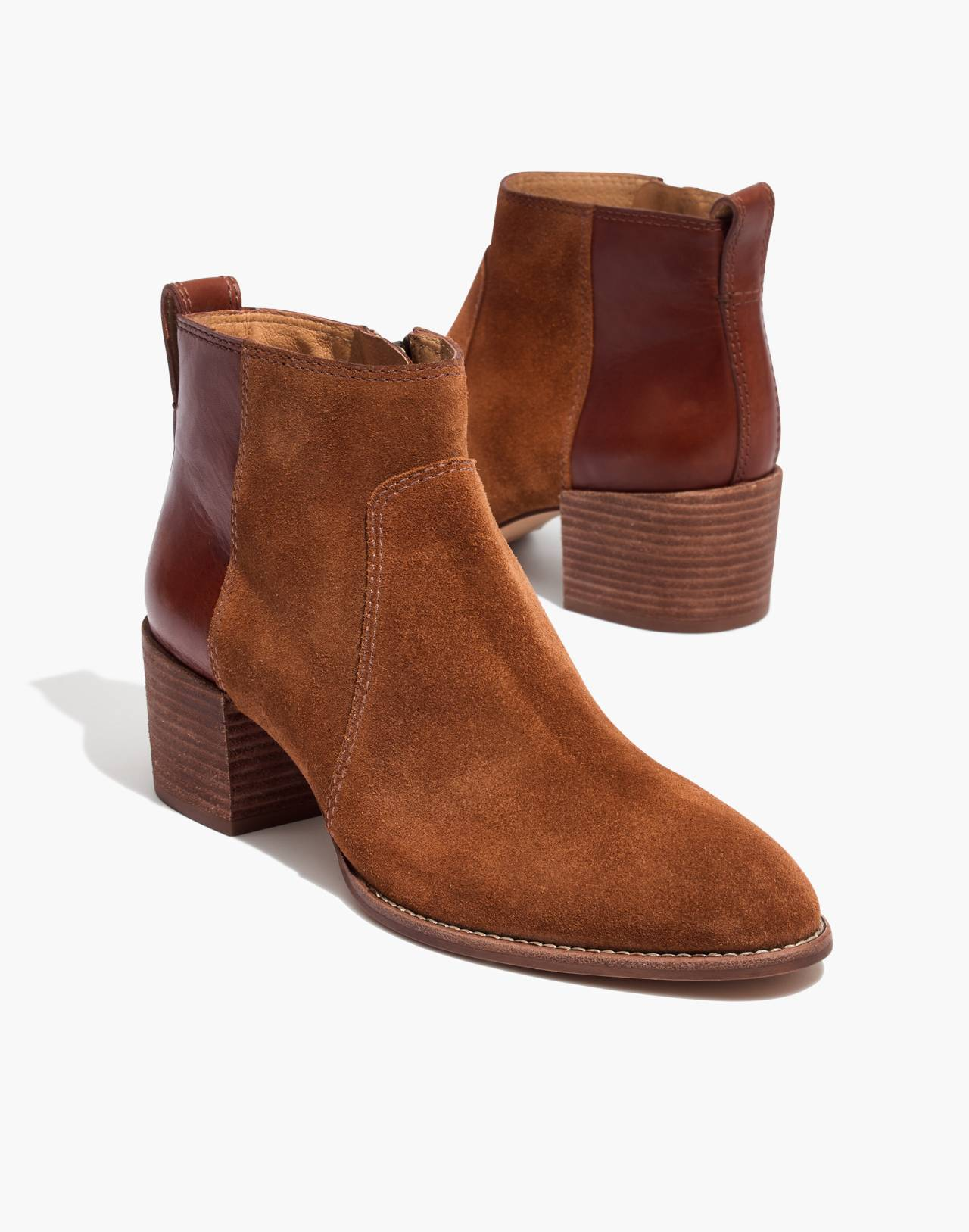 The Asher Boot in Suede and Leather in burnt sienna image 1